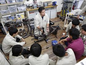 東京サイクルデザイン専門学校スポーツ工学デザイン科 自転車クリエーションコースのイメージ
