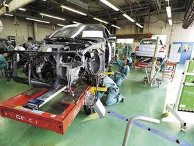 関東工業自動車大学校車体整備科のイメージ